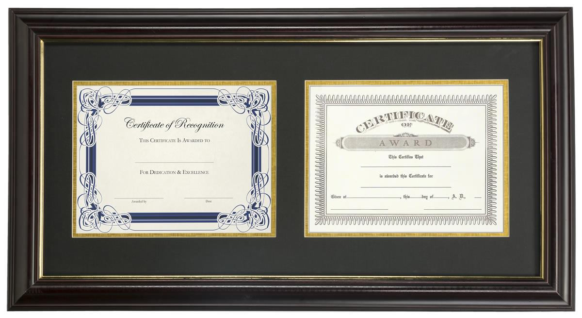 Double Diploma Frames | Wall Mounting Design