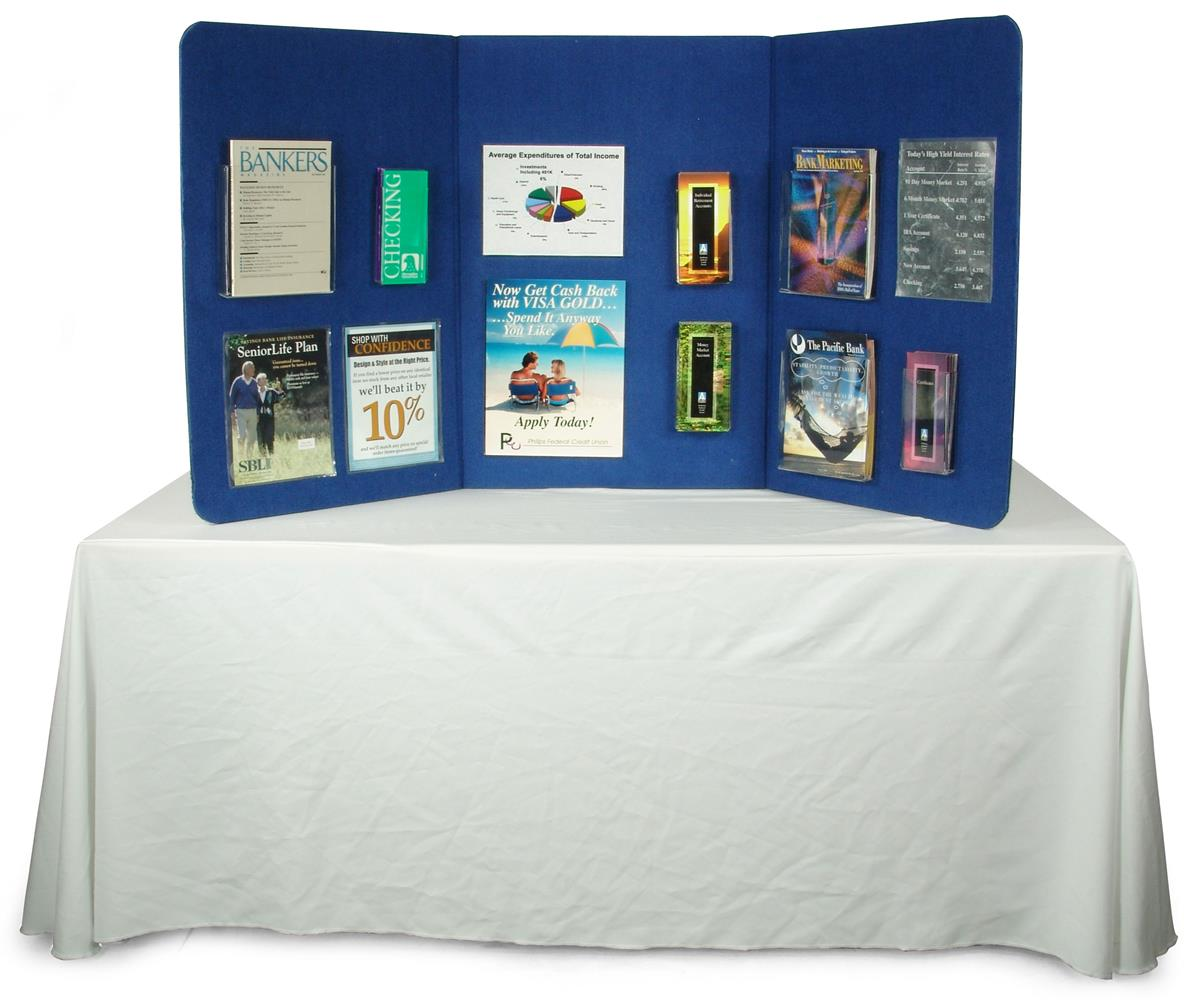 Hook And Loop Presentation Boards Trifold Displays