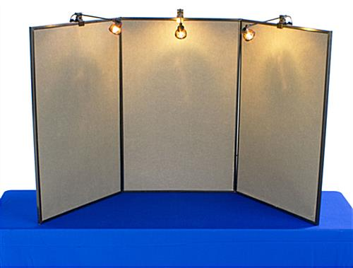 Exhibition Display Board : Table display boards presentation tools for trade shows