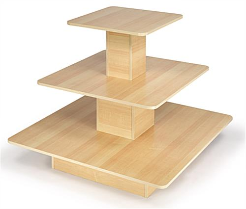 Tiered Retail Table Maple Melamine Furniture