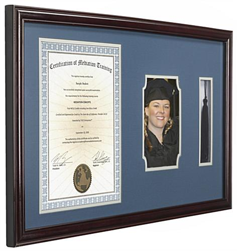 College Diploma And Tassel Frames Holds 2 Photos