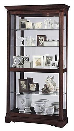 wood curio cabinets