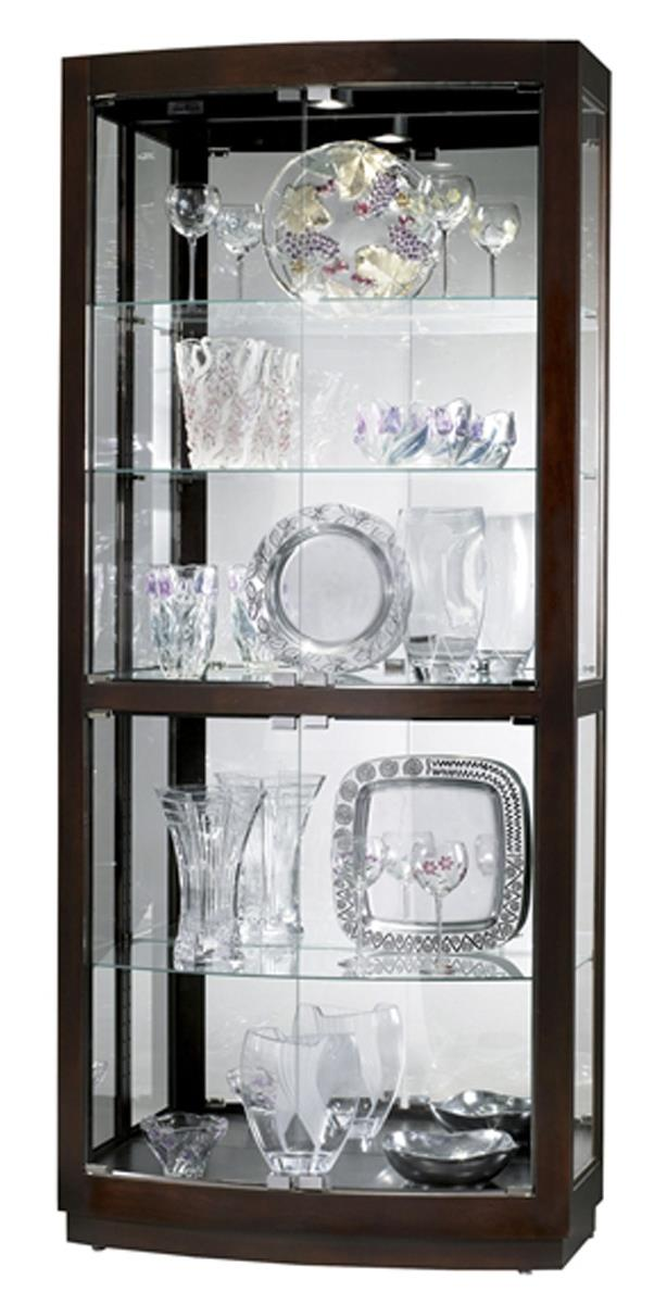 This Display Cabinet Has Halogen Lighting And Clips For Securing Shelves!  This Display Cabinet Comes With Four Glass Doors And Nickel Metal Finished  ...