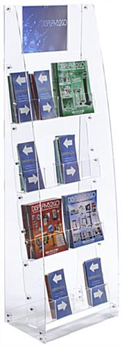 Acrylic Brochure Stand - Free Standing Design