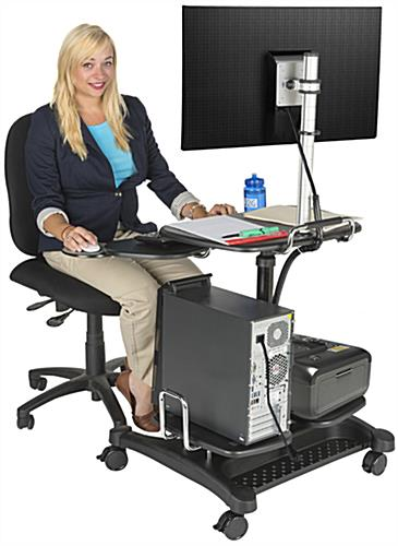 Stand Up Mobile Workstation with Height Adjustment
