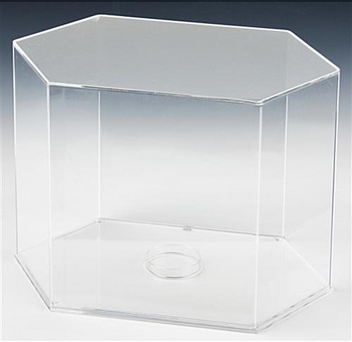 Football Display Case Includes Acrylic Riser