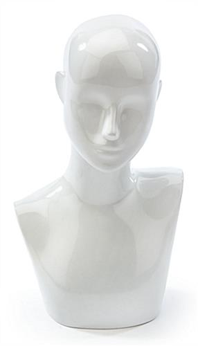White Female Mannequin Bust