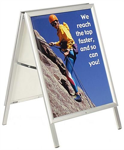 Portable A-Frame Sign with Snap Frame