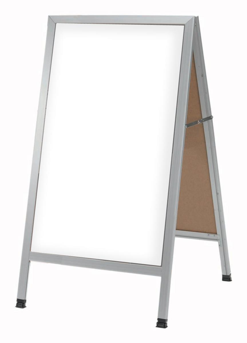 Dry Erase Sandwich Boards Silver Aluminum With White Backing