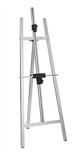 Adjustable Floor Easel Silver Aluminum Display Stand