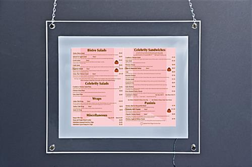 This Inexpensive Poster Frame Lights Up! This Picture Sign is a ...