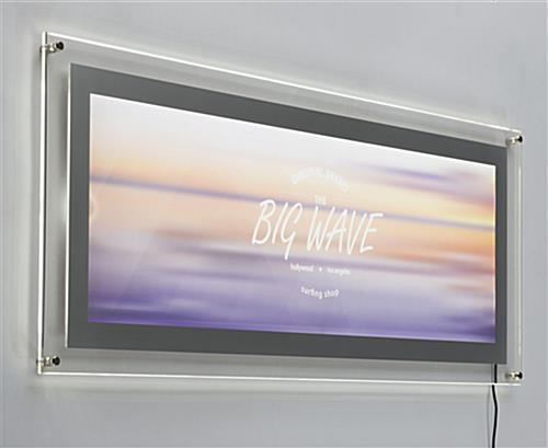 The Edge Lit Restaurant Sign Is In Stock Many Light Boxes
