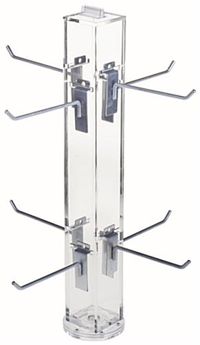 "6"" Hook Silver Counter Spinner Rack w/o Props"
