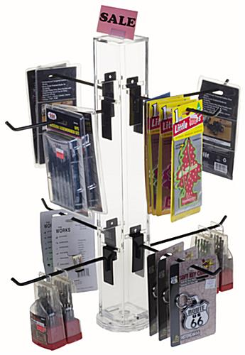 "8"" Hook Black Counter Spinner Rack w/ Props"
