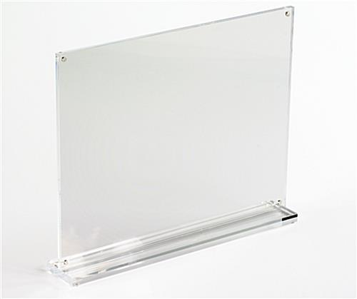 the stand up sign holder is constructed using acrylic for a clear durable frame there are. Black Bedroom Furniture Sets. Home Design Ideas