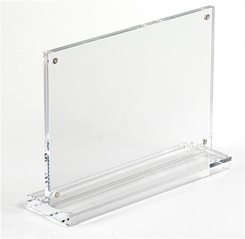 The acrylic picture frame is made of clear plastic and for 11x14 table top frame