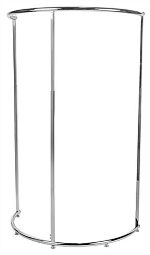 Semi Circular Clothing Rack Height Adjustable From 48 To