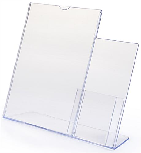 Countertop Literature Holder Clear Plastic Tabletop