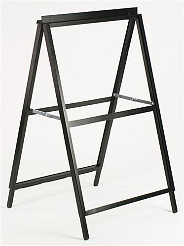 yard sign frames are made of steel with a black finish - Metal Sign Frames