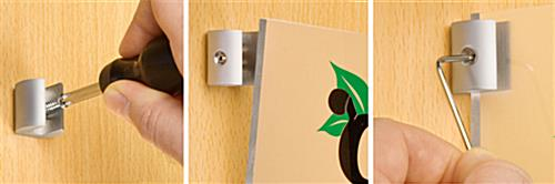 Sign Support Holds Signs At A Perpendicular Angle To Any Wall