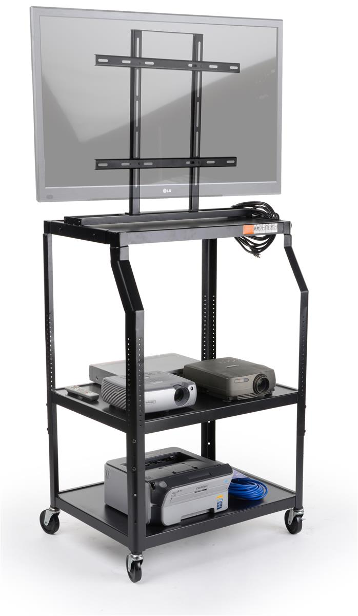 This Audio Visual Cart Is Height Adjustable The Highest