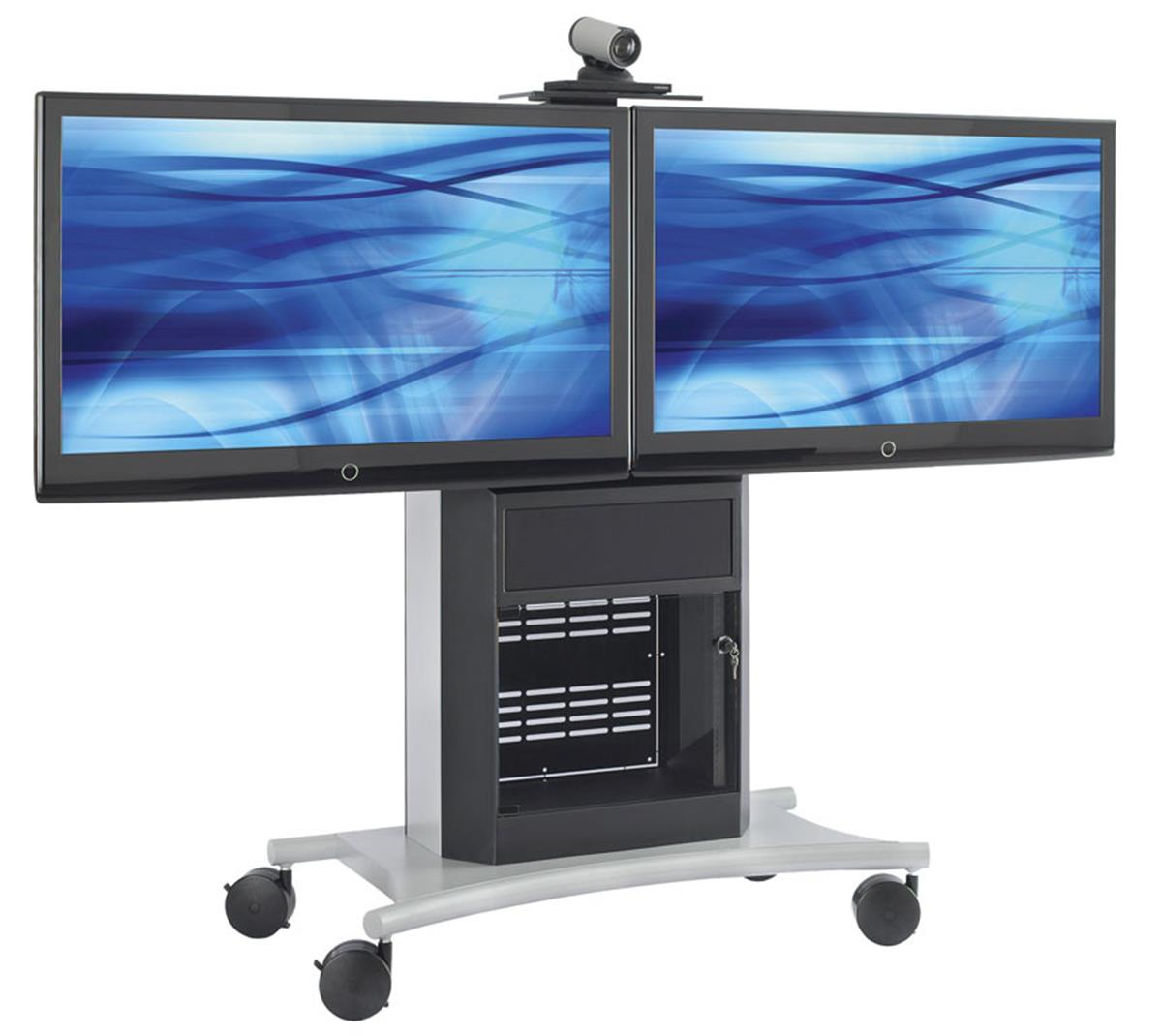 These Av Carts With Dual Display Capabilities Are Mobile