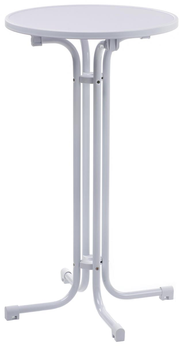 Collapsible Tall Cocktail Tabl 23 5 Inch Diameter White
