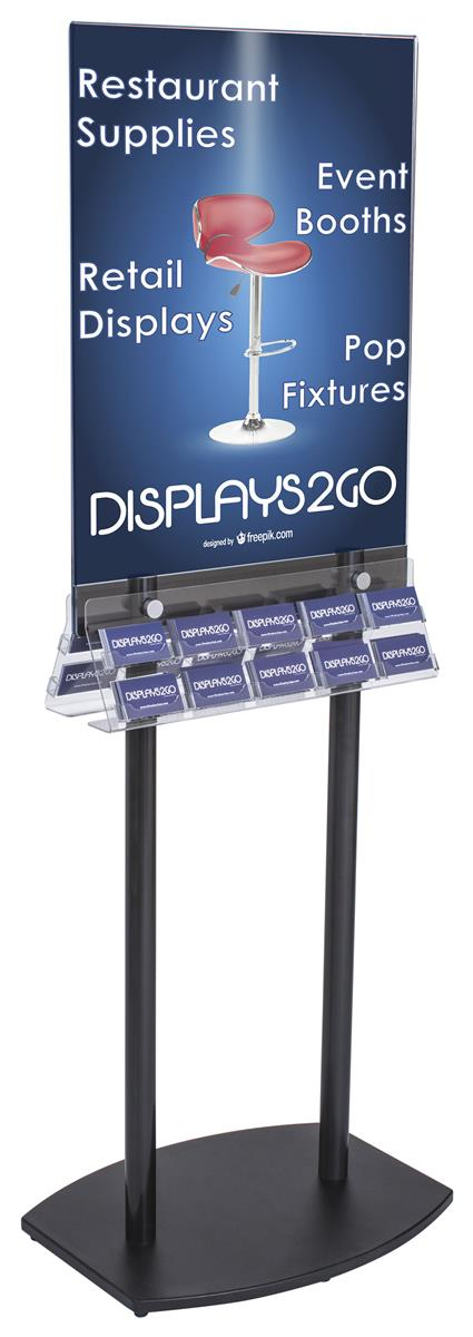Acrylic Business Card Rack | Double-Sided Poster Frame