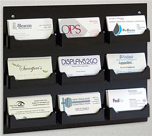 9 pocket business card holders wall mount business card holder has 9 pockets reheart Images