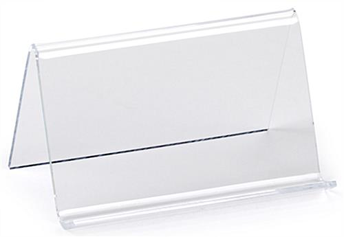 Clear Desk Business Card Holder