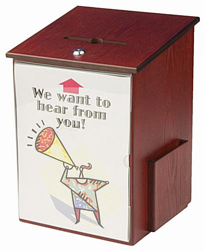 Wooden Employee Suggestion Box