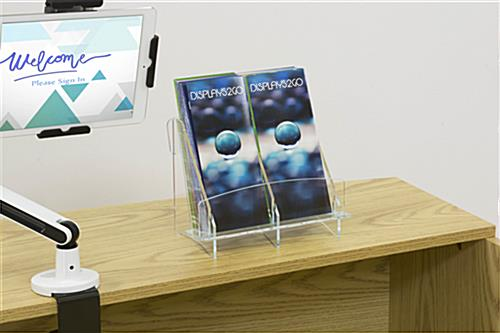 Two Pocket Double Brochure Holder