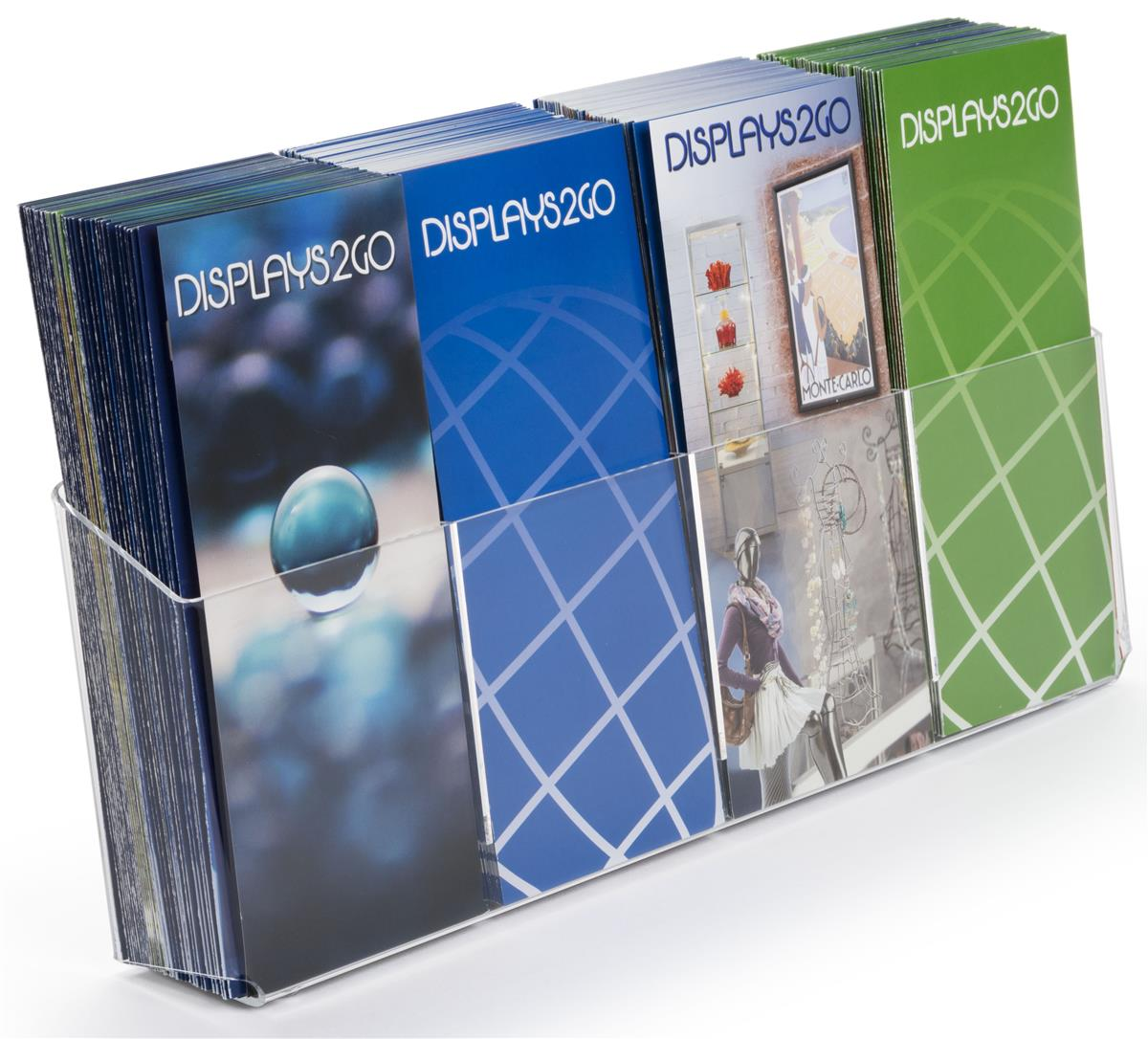 Acrylic Flyer Holder Removable Dividers For Brochures Or