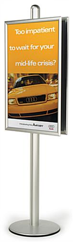 "Poster Frame Display Stand: Two 24"" x 36"" Frames"