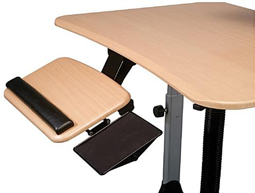 Sit Stand Computer Desk Right Or Left Handed Users