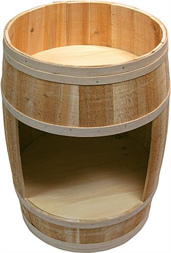 Uncovered Cedar Barrel