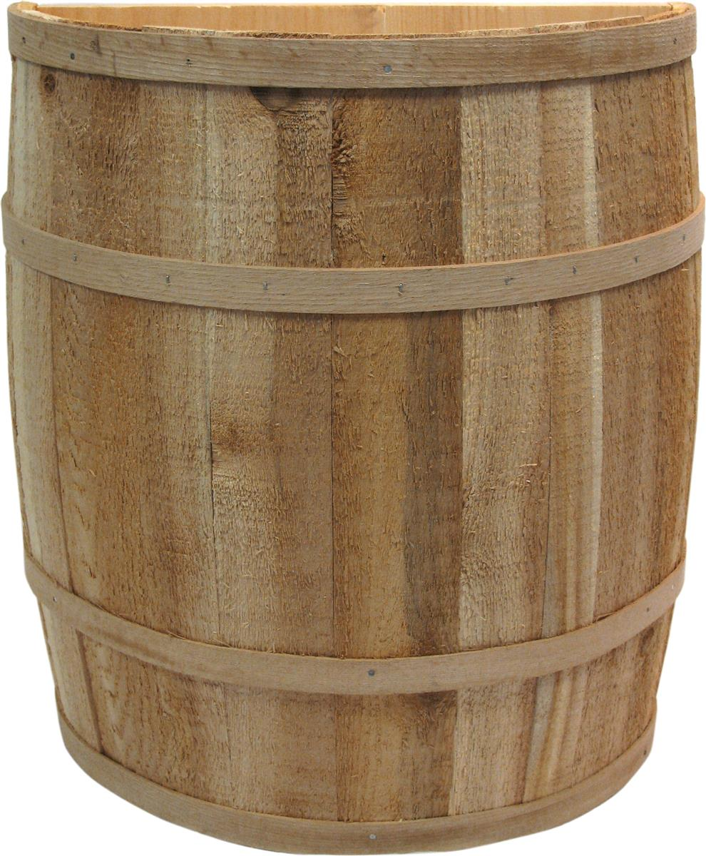 Split Barrel Stands Handmade Wood Half Casks