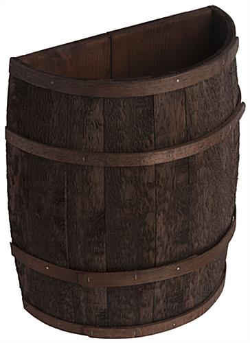 Country Style Stained Half Barrel