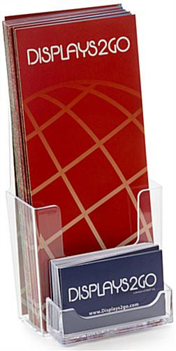 Clear leaflet holders single pocket with business card slot leaflet holders with business card holder colourmoves