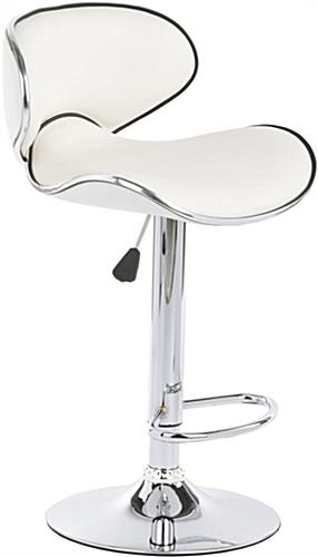 White Bar Stool White Bar Stool ...  sc 1 st  Displays2go & White Bar Stool | Can Swivel 360u0026de; and is Height Adjustable
