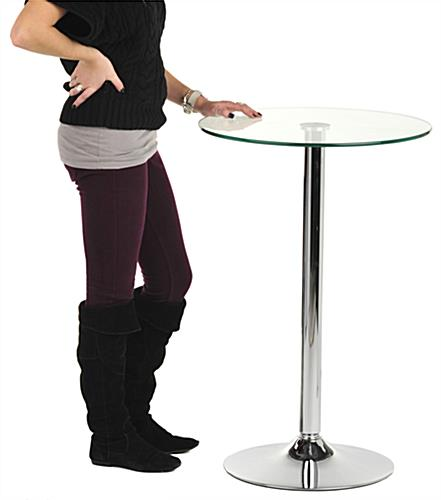 Ordinaire Glass High Top Table Glass High Top Table ...