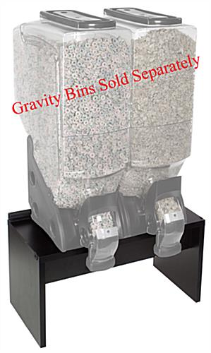 "Black Buffet Stand 22""w x 12""d x 12""h For Four 3 Or 5 Gallon Gravity Bins"