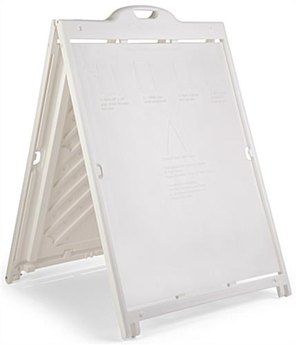 Outdoor Wheeled Poster Stand | 36 x 48 White Plastic A-Frame