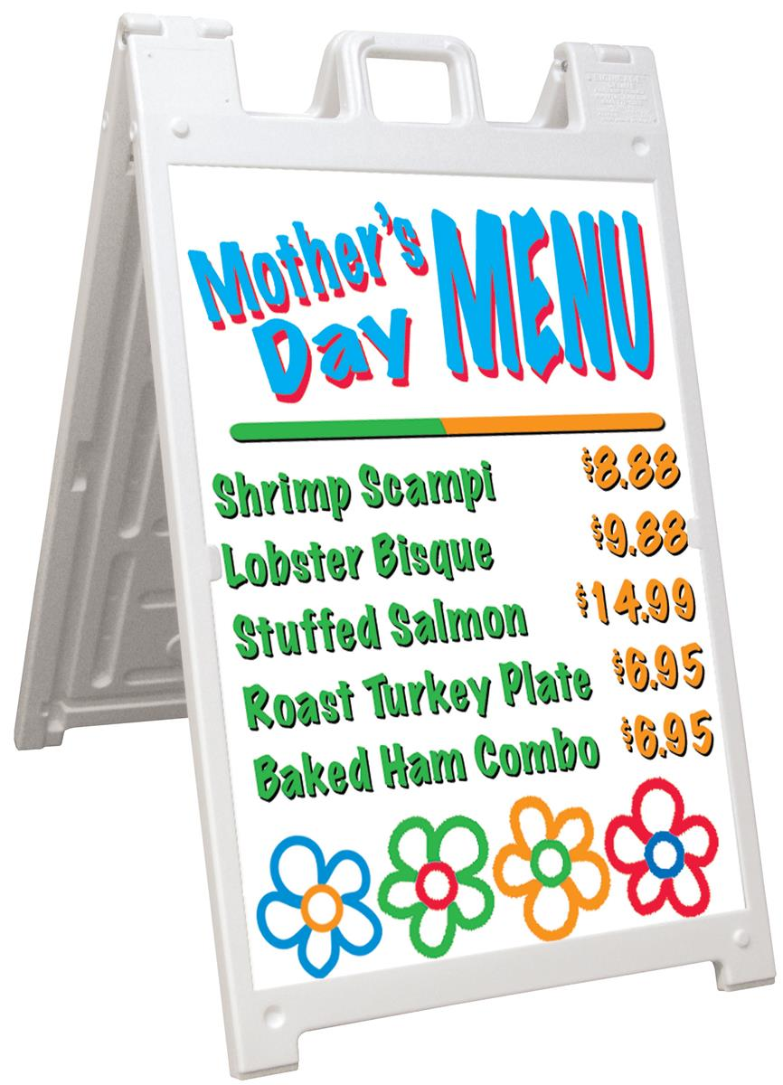 "White Sidewalk Signs | Compatible with 24"" x 36"" Graphics"