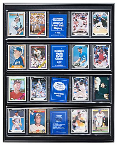 The Baseball Card Displays are Made of Wood and Finished in a Black ...