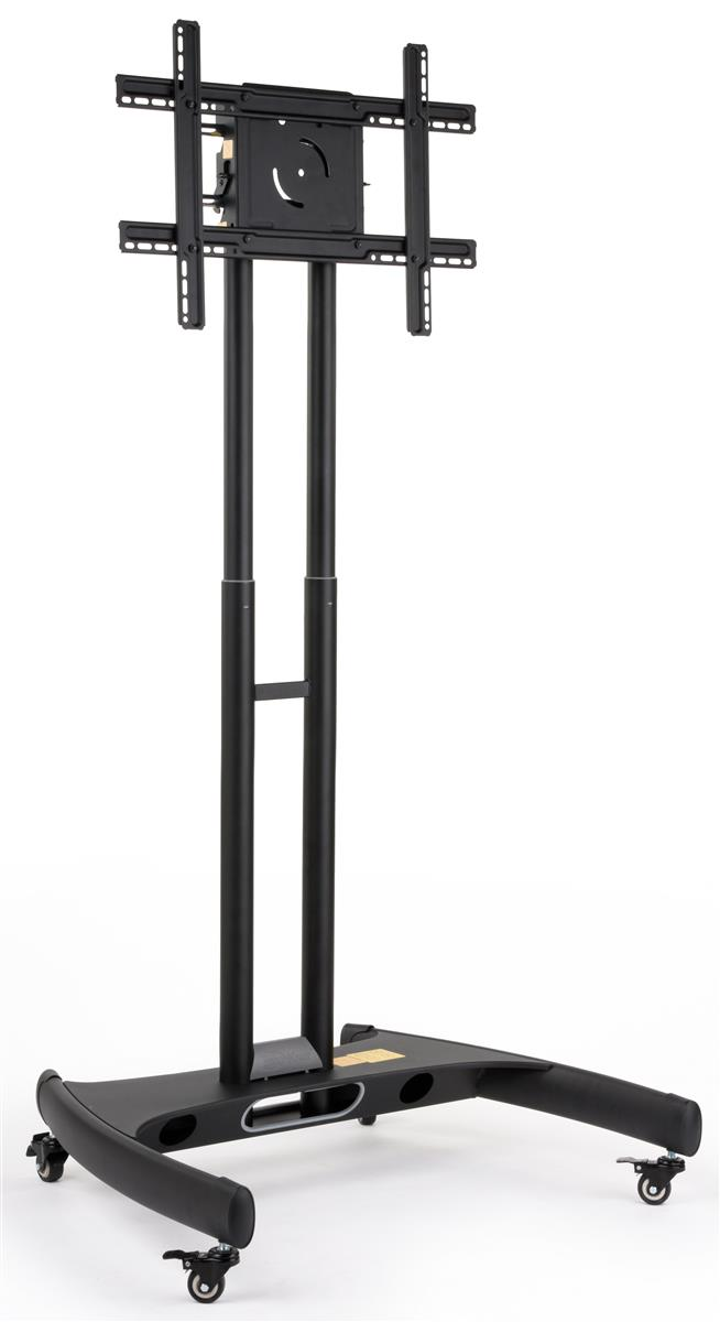 Adjustable Monitor Carts Rolling Flat Panel Stands