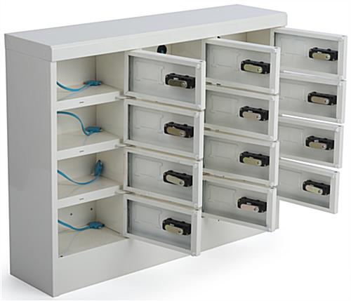 Secure Cell Phone Charger Locker 12 Locking Compartments