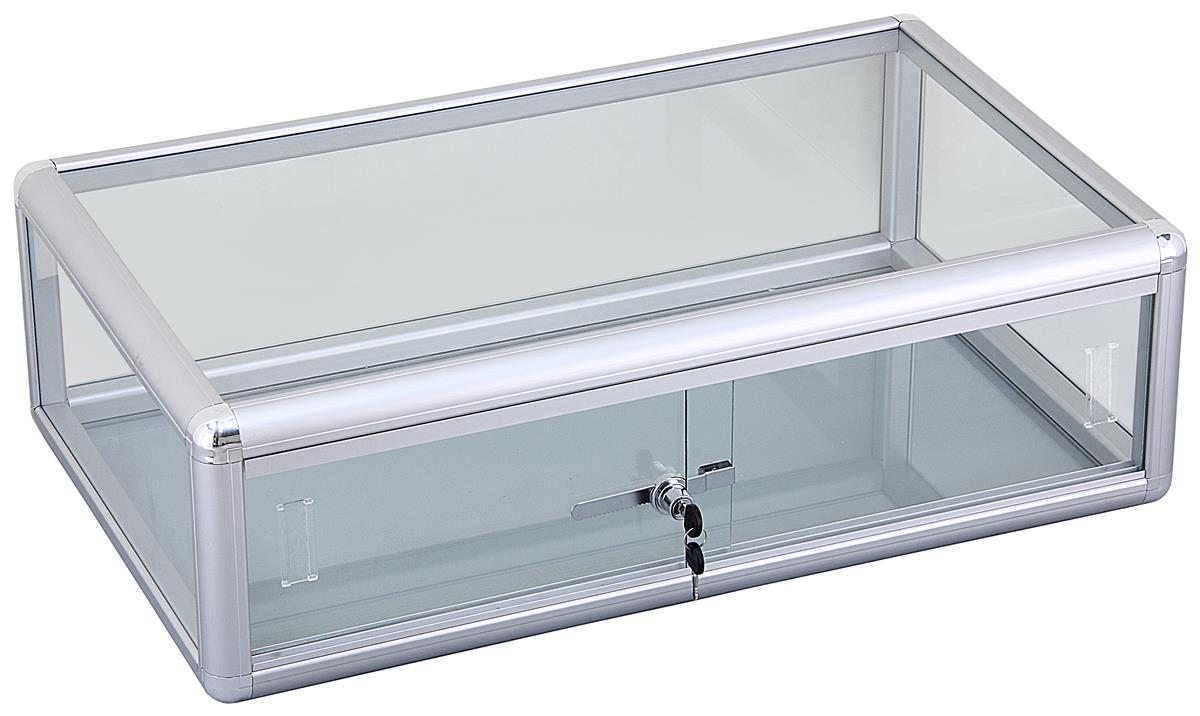Aluminum Countertop Display Cases Sliding Door