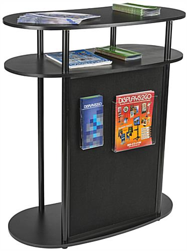 Trade Show Booth Loop : Portable counter with hook and loop panel trade show stand