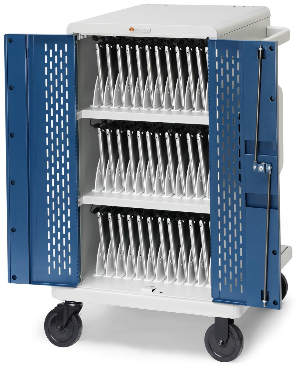 Wheeled Laptop Charging Cabinets Ventilated Sides